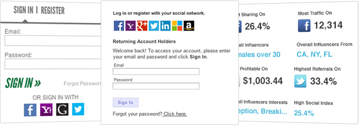 screen shot of social annex login services program